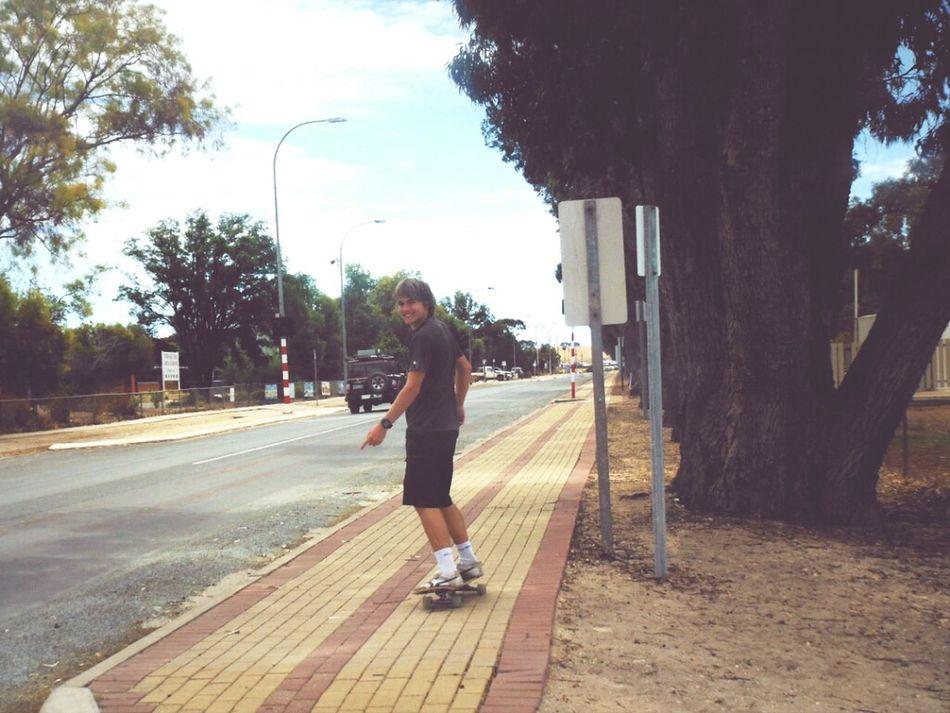Having Fun Summer Skateboarding Enjoying Life Australia