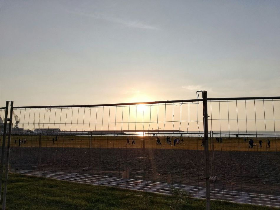 Fence Protection Safety Sunset Security Barbed Wire Sky Prison Boundary Wire Exclusion Dramatic Sky Outdoors Sun No People Nature Day Italia Italy Castellammare Di Stabia Long Goodbye