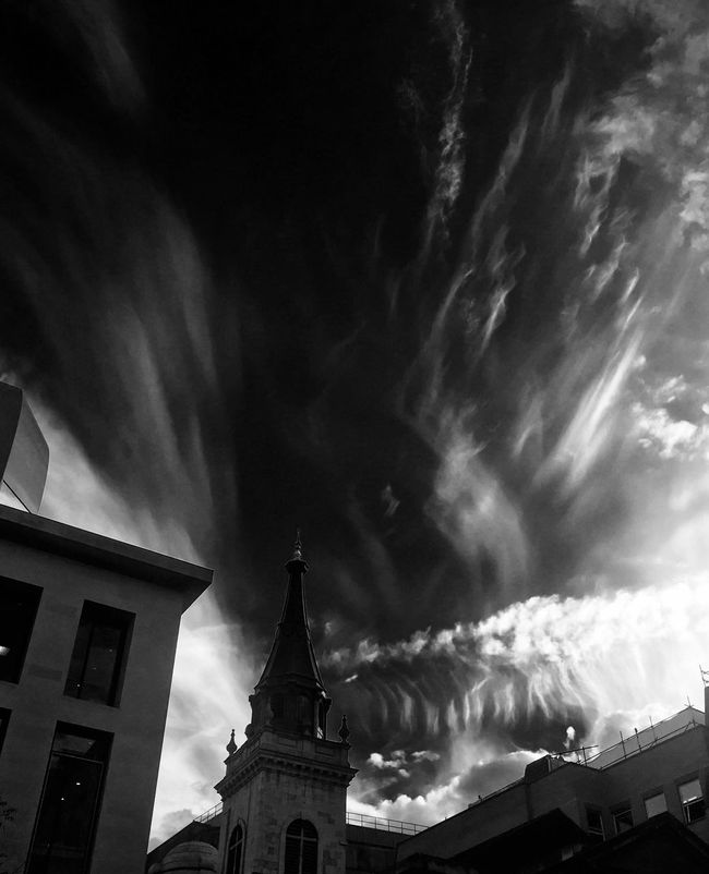 Sky Xray Sky And Clouds Blackandwhite IPhoneography London Battle Of The Cities