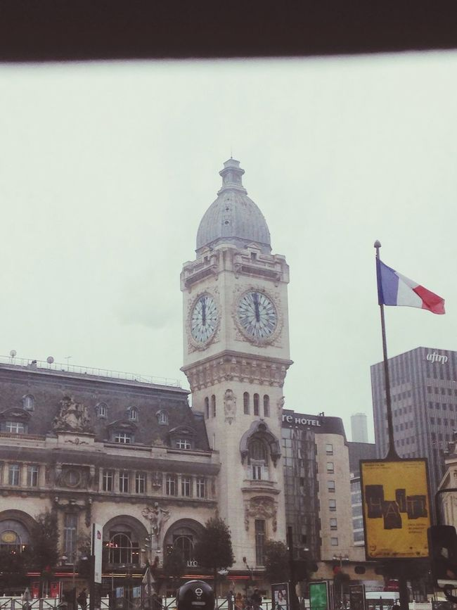 Greysky Paris Clock Frenchflag The Time is locked