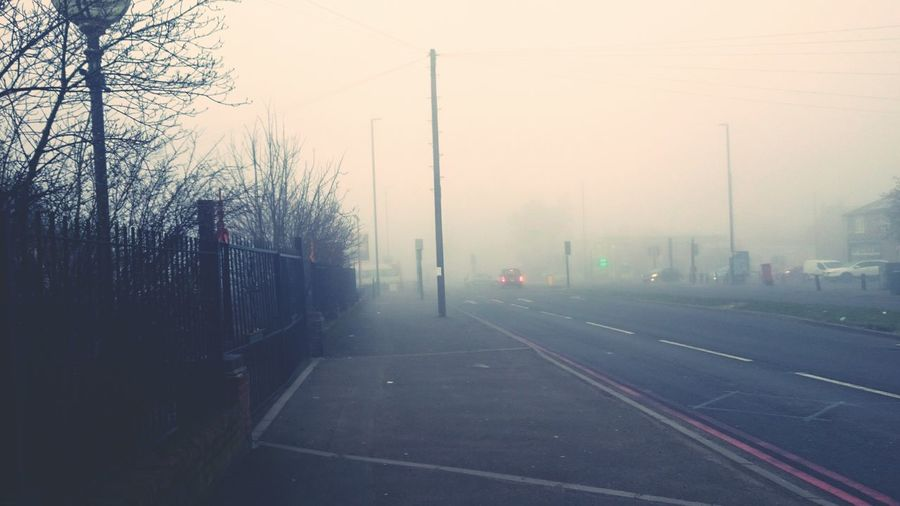 Foggy Morning Road Going To Work