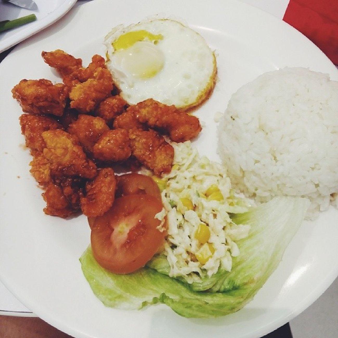 Món ăn yêu thíchhhhhh :)))) Lotteria Chickenball Rice Favoritefood