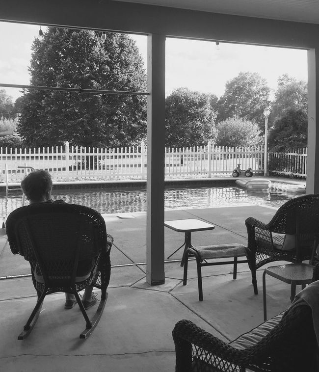 Poolside Poolview Blackandwhite Back View Day My Favorite Place Monochrome Photography