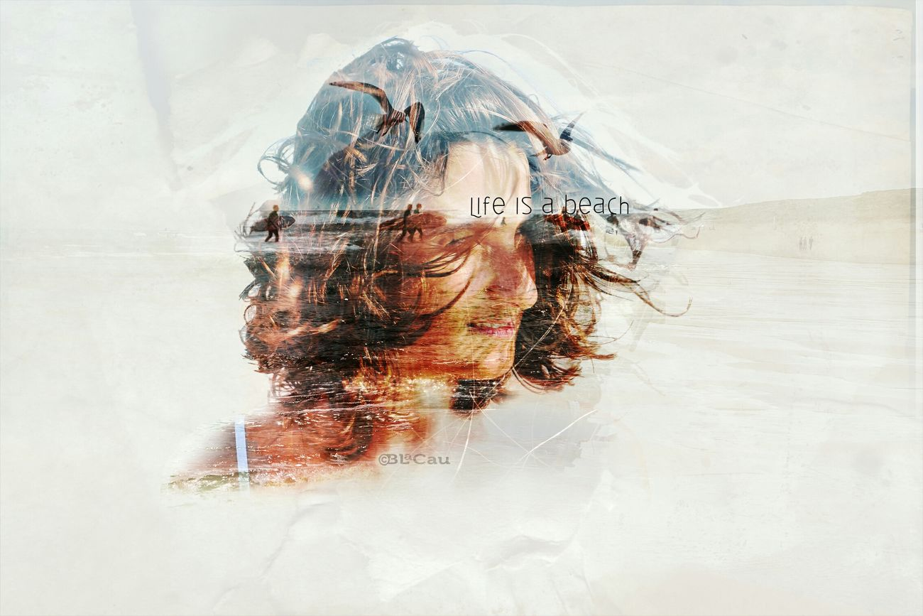 Double Exposure Graphism Photo Montage Portrait Colouryourworld Life Is A Beach My Wife