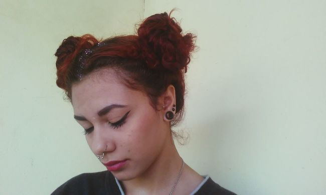 LU4 Sad Girl Batomvermelho First Eyeem Photo Septum Peircing Sadness Redhead Red Bad Day Badgirl Crazzy Girl KAWAII