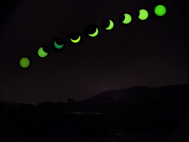 Solar Eclipse in stages Landscape Eclipse Sun Light Sky