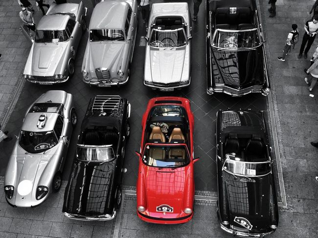 Abundance Birdseyeview Black And White Choice Different Extraordinary  Gumball3000 Large Group Of Objects Oldtimer RedBlack Status