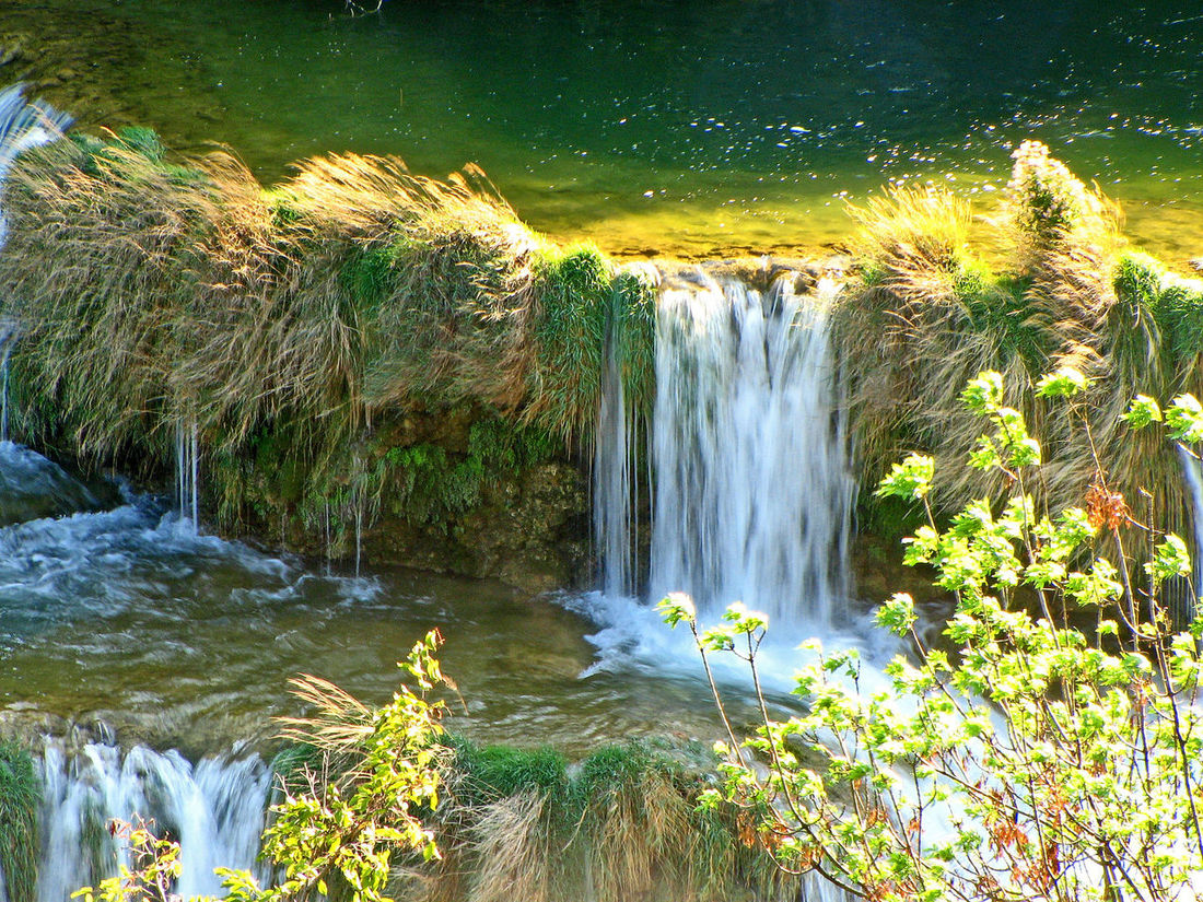 Krka Waterfalls, Near Sibenik, Croatia Motion Water Nature Day Waterfall Outdoors Grass Long Exposure Plant Flowing Water Scenics Beauty In Nature No People Rock - Object Waterfalls In Croatia