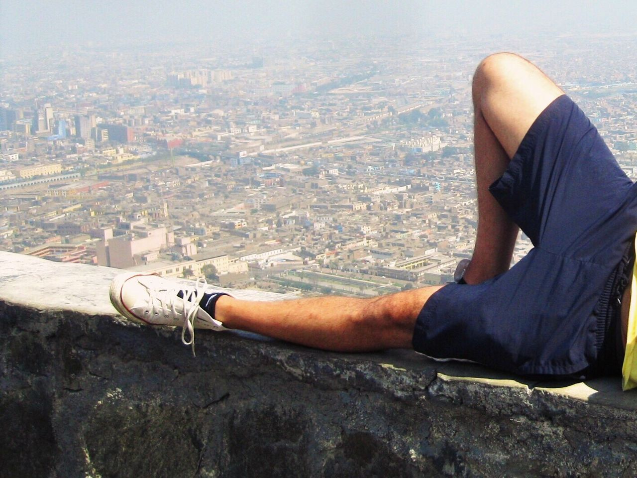 Out Of The Box Above The City Cityscape Relaxing Rest City One Person Architecture Real People Built Structure Outdoors One Man Only People Photography Urbanphotography Chucks Leisure Activity People And Places Place Of Heart