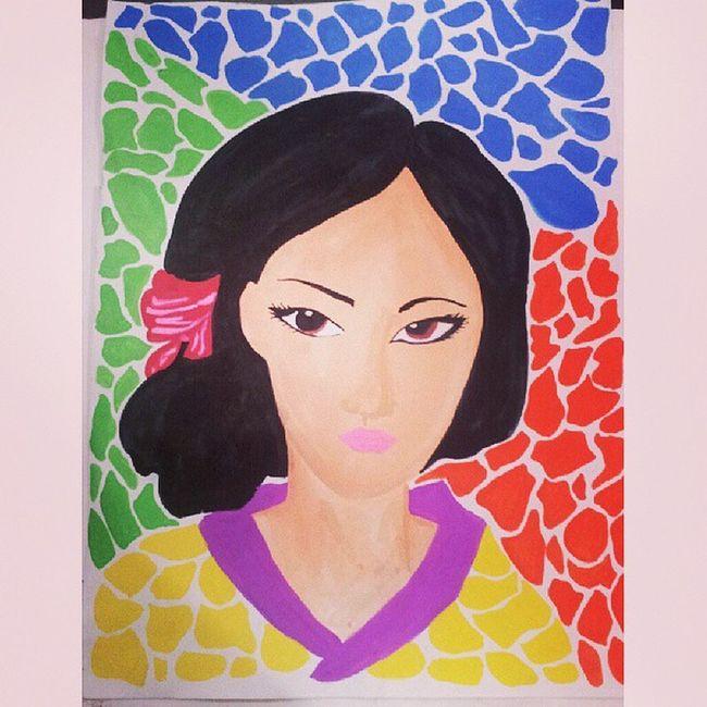 Lady Pinoy Pinoystyle Pinoyart Pinoyartist art artwork artist cubist cubism phillipines philippineart itsmorefuninthephilippines lady kevoartist artist asianart asian filipino filipinoart filipinoartist
