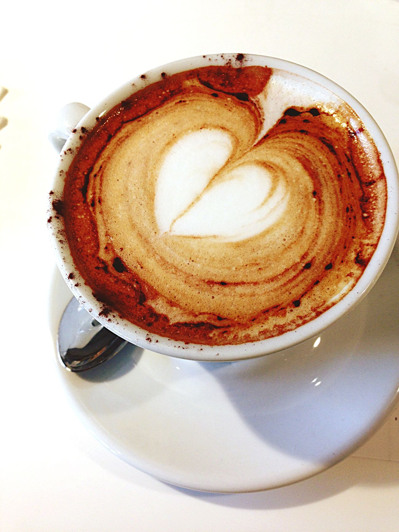 Obviously made with love... It's Friday, so I deserve a Cappachino! Italian style.
