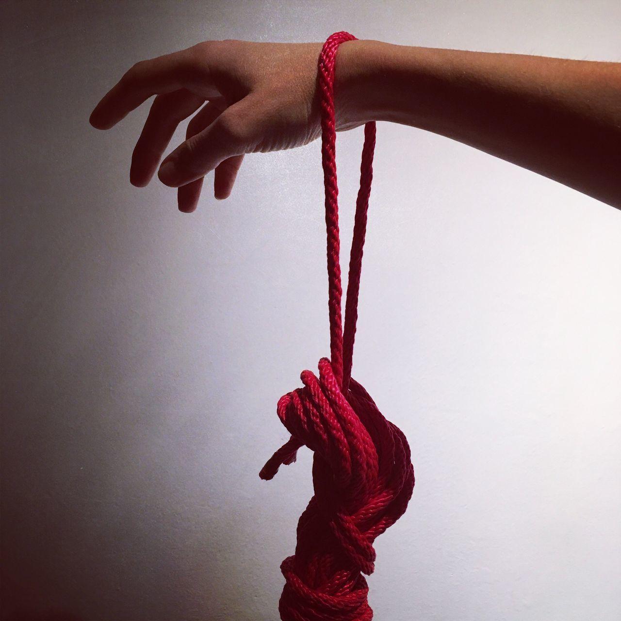 Cuerdas Hand Red Shape Photoart Photography