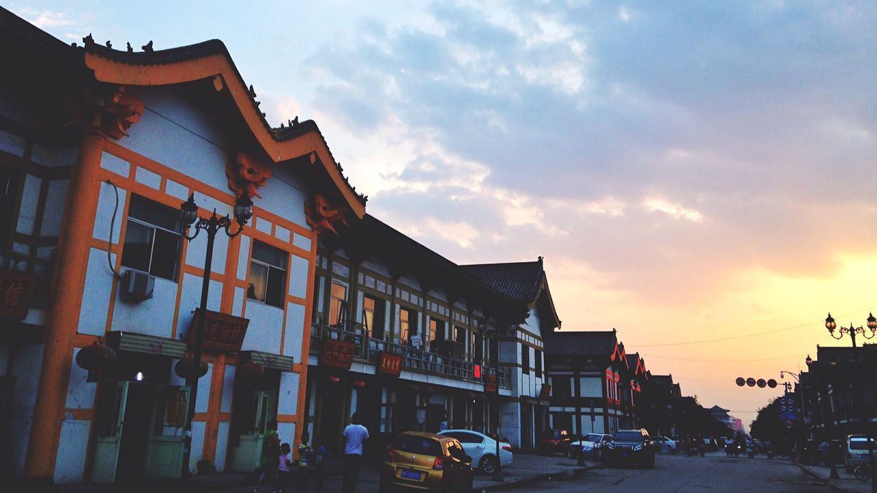 A walk after dinner around the Wooden Tower. Ying County Shanxi Province The Wooden Tower Antique Architecture Street Photography
