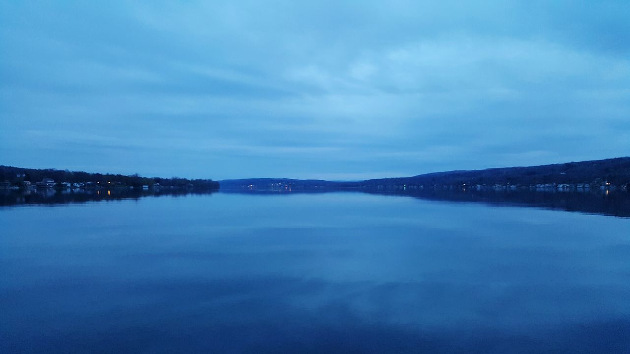 Unedited The Purist Keuka Lake Dusk Sky Lake View Blue Reflections In The Water No People Finger Lakes Of Western New York Landscape_Collection Colour Of Life Miles Away Long Goodbye The Great Outdoors - 2017 EyeEm Awards Neighborhood Map