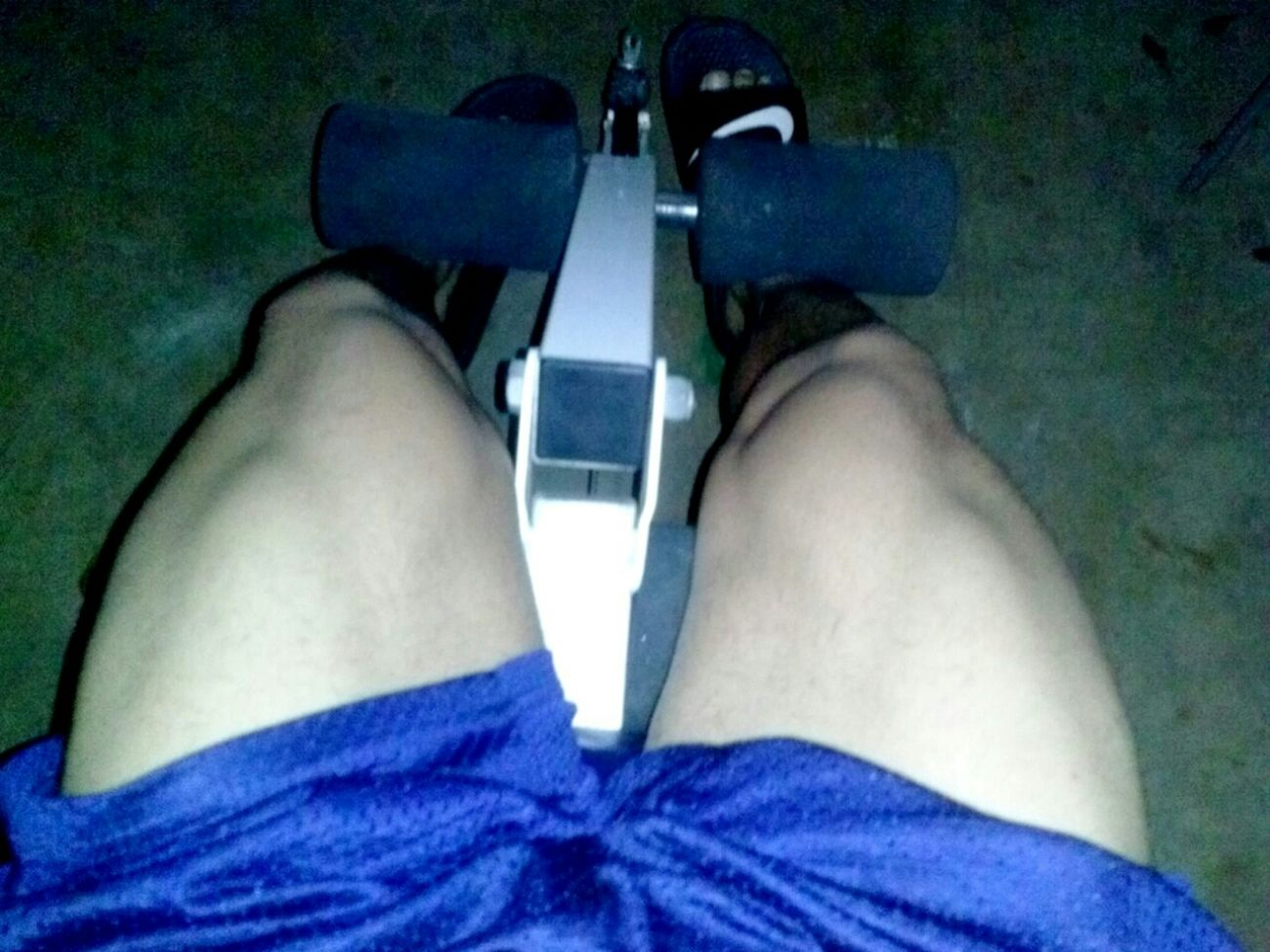 trying to get my legs cut. .