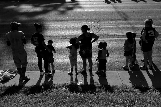 Twilight. A good time to have a parade to kick off the Illinois State Fair, Springfield. Heat Index at 5:30pm: 105F. Illinois Photooftheday Reportage Documentary EyeEm Best Shots Eye4photography  Shootermag_usa Photojournalism Streetphotography Silhouette Shadow Light Outdoors Sun Twilight