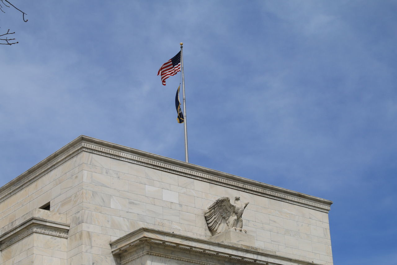 Architecture Bank Federal Reserve Ban Federal Reserve Bank Flag Money Wall Street  Washington DC Washington, D. C.