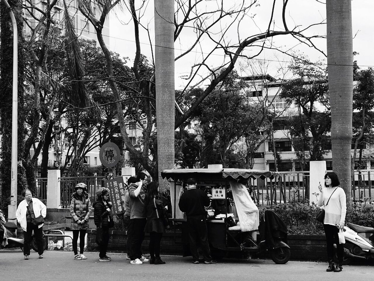 Vendor carts。 EyeEm Gallery EyeEm Best Shots - Black + White TOWNSCAPE Taking Photos The Tourist Image Enjoying Life Lifestyle Photography Street Photography Street Foodphotography People Photography People Streetphotography