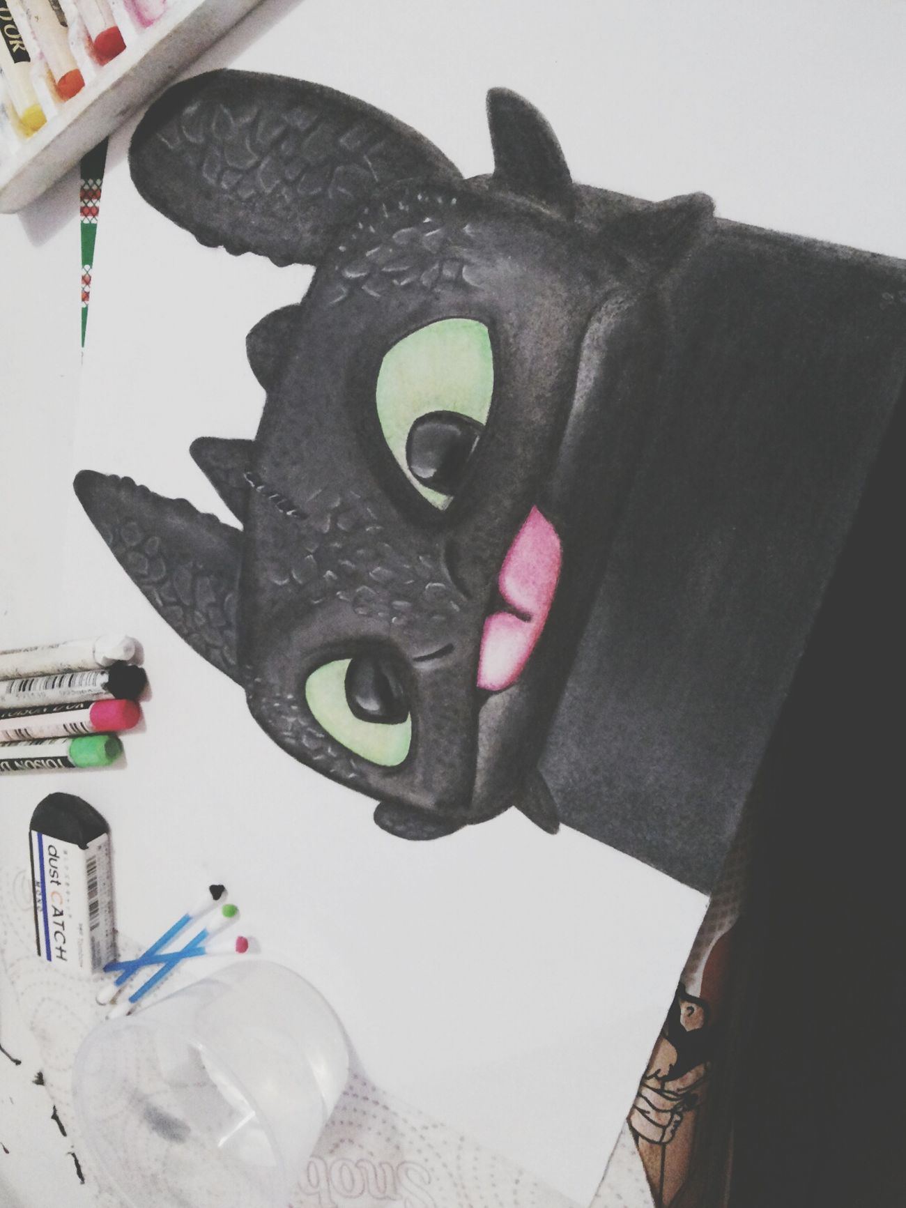 Love my Toothless ♡ Draw Howtotrainyourdragon Love Inspiration Soft Pastels