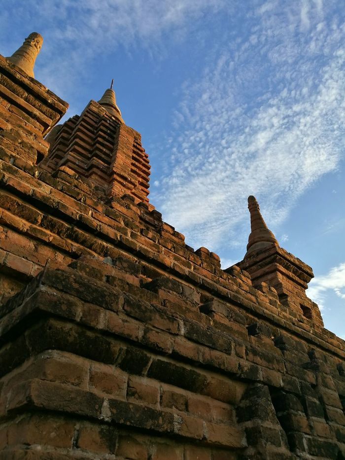 Dramatic Angles. Angles.Eyeem4photography Dramatic Angle Dramatic Angles Eyem School Of Photography Bagan, Myanmar Shwe Architecture History Sky Ancient Travel Destinations