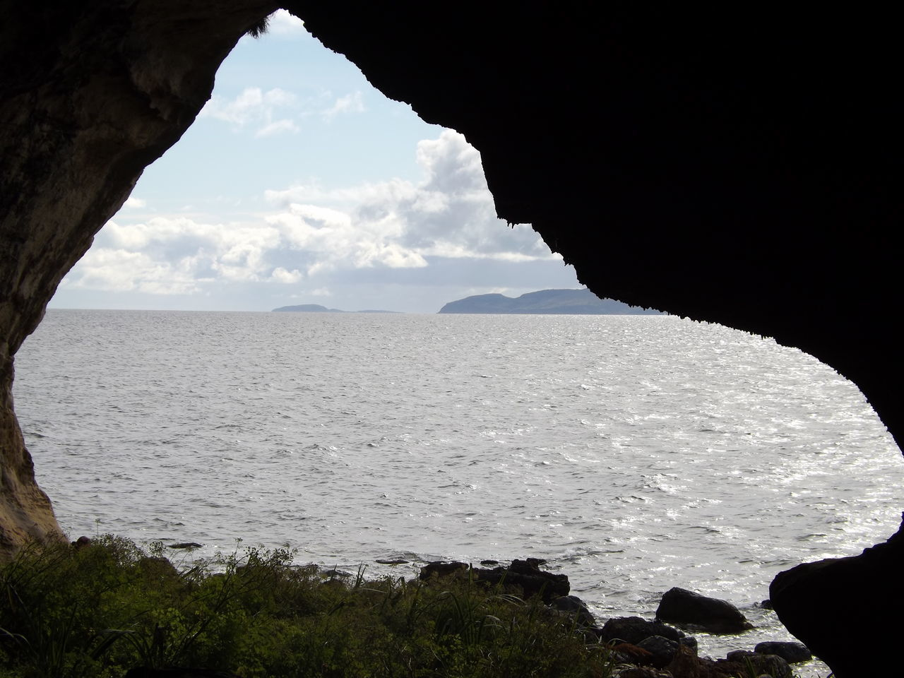 Beauty In Nature Cave Day Frame Isle Of Arran  King's Cave Landscape Nature No People Outdoors Rock - Object Scotland Sea Sea And Sky View Waves
