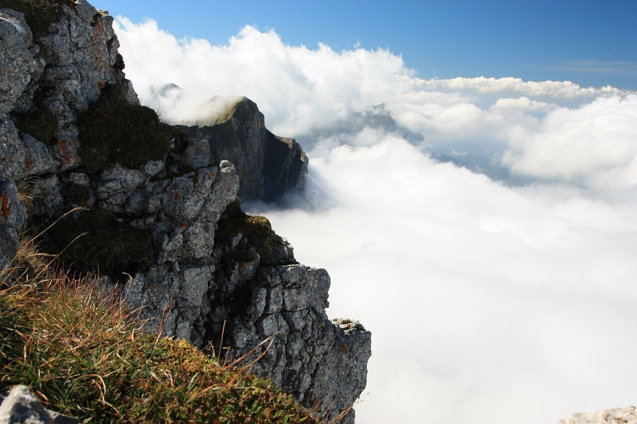 Nature Sky Beauty In Nature Low Angle View Tranquility Scenics Day Physical Geography Rock - Object Outdoors Mountain No People Mountains Cloud - Sky Clouds Clouds And Sky On The Top Of The World On The Top Of The Mountain On The Top Finding New Frontiers