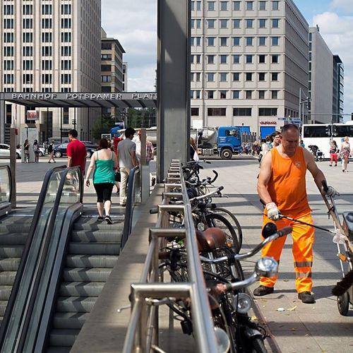 Streetpeople Potsdamerplatz Berlin