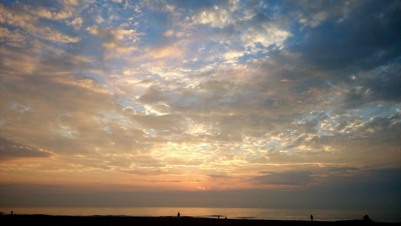 Beauty In Nature Sunset Sea Cloud - Sky Scenics Tranquility Horizon Over Water Water Nature Dramatic Sky Beach Landscape Tranquil Scene Outdoors Sky Blue No People Ocean City Md