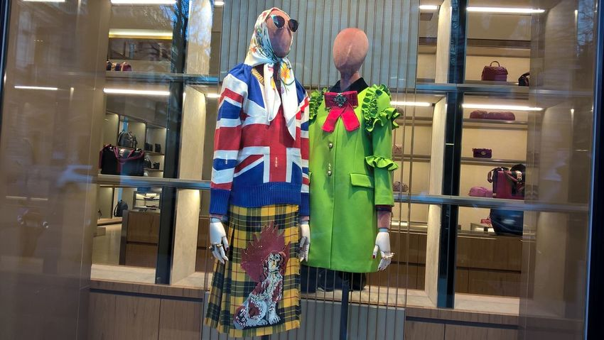 #budapest #fashion #manikin #photography #storefront Day Indoors  Lifestyles Multi Colored People Senior Couple Standing Togetherness Two People Women
