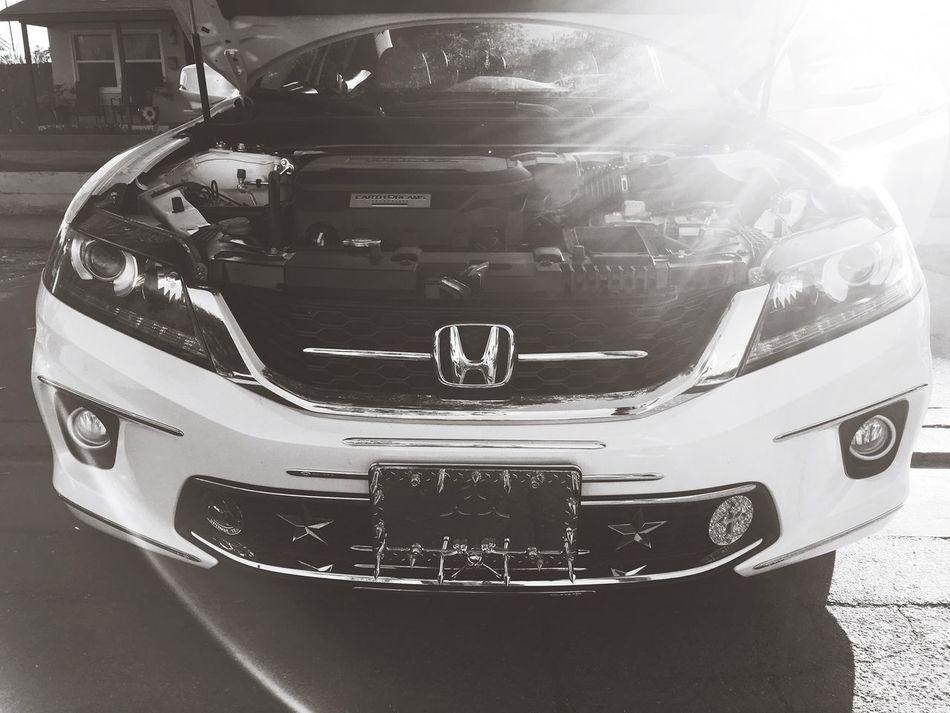 First Eyeem Photo Honda Cleanerthanyourbitch Relaxing White Turbocharged V6  JL AUDIO W7 12