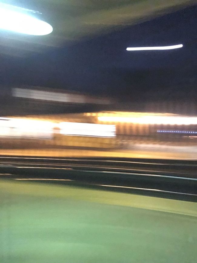Blurred Motion Cropped Illuminated Journey Mode Of Transport Motion No People On The Move Outdoors Part Of Road Sky Train Station Transportation Windshield