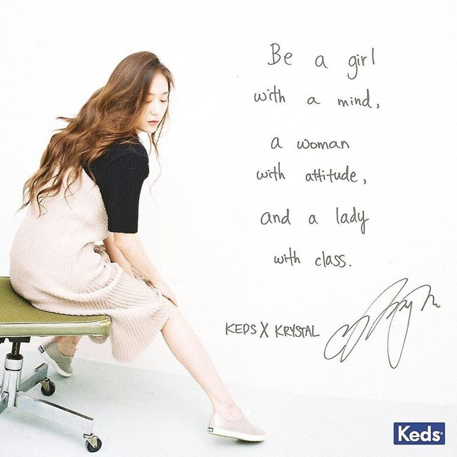 'Be a girl with a mind, a women with attitude, and a lady with class. ' - 정서정 Krystal Jung Krystal Fx FX Keds Women Who Inspire You Inspirations Beauty In Nature
