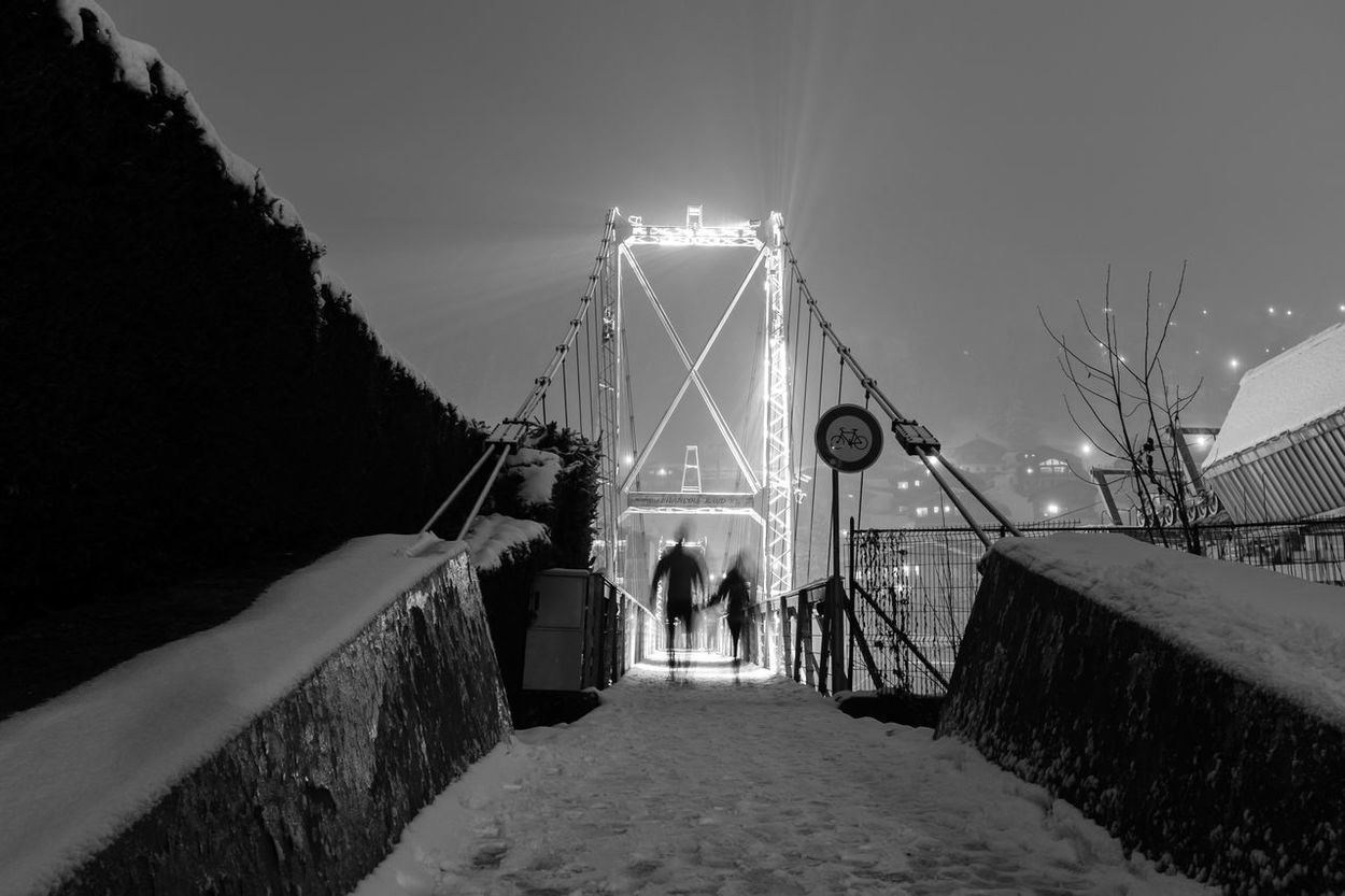 Architecture Architecture_collection Bestoftheday Black And White Black And White Collection  Black And White Photography Blurred Motion Bridge Cities At Night France Fuijfilm Fuji Fuji X100s Monochrome Morzine Night Night Lights Nightphotography People Photooftheday Picoftheday Silhouette Snow The Street Photographer - 2016 EyeEm Awards Your Design Story