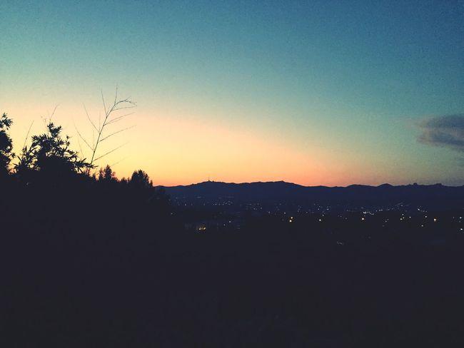 Sunset Landscape Nature Night Lights
