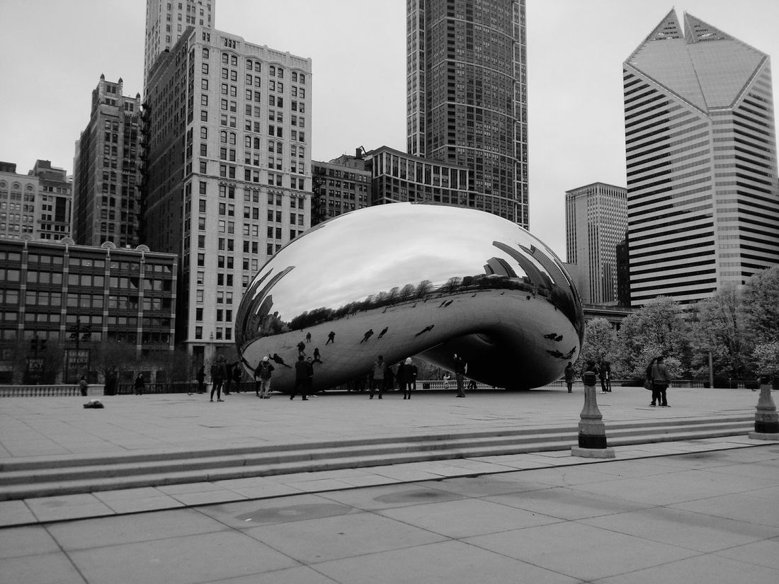 Architecture City Building Exterior Built Structure City Life Tower Skyscraper Travel Destinations Modern Sky Outdoors In Front Of Trip Famous Place Vacations Tourism Chicago Chicago ♥ Chicago Illinois Chicago Architecture Chicago Photographer Chicago Bean Bean Anish Kapoor Blackandwhite