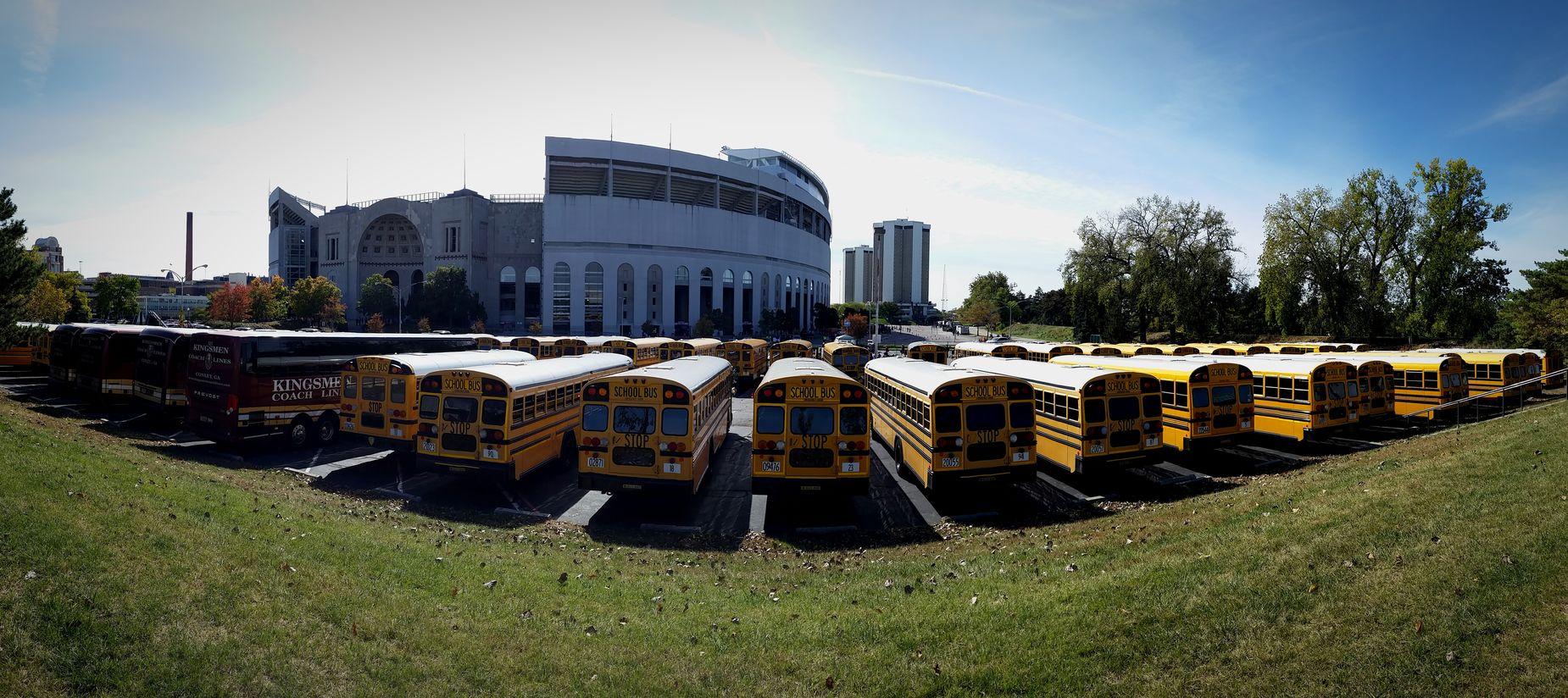 Panorama Bus Ohio Ohio State Pano Buckeyes Band