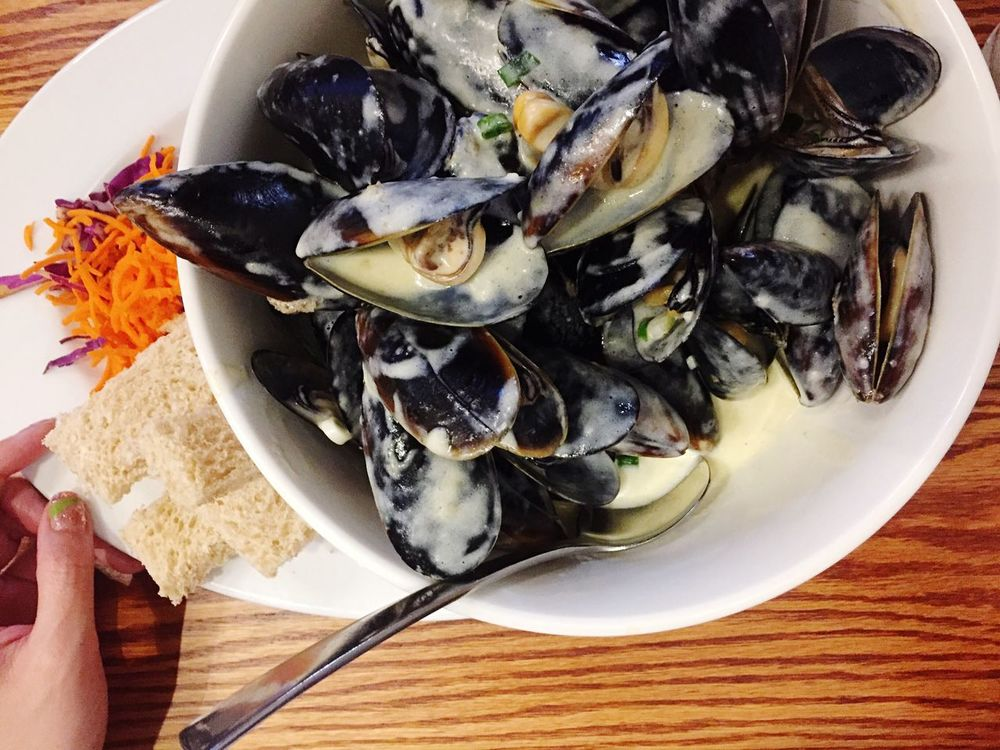 In My Mouf lots of Mussels Seafoodporn Seafoods Dinner Christmas Feast Feast