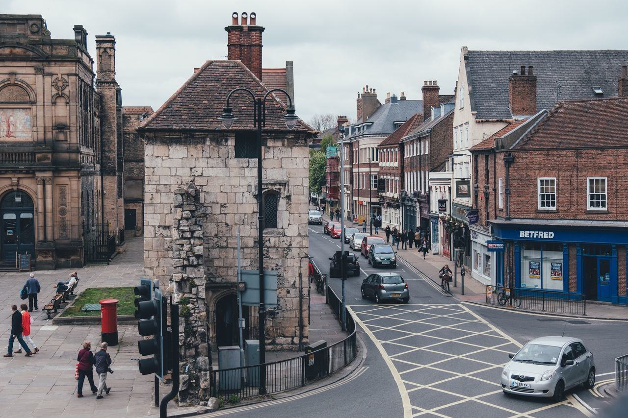 York, UK Walled City York Uk Built Structure Building Exterior Architecture City Street Cloudy Day