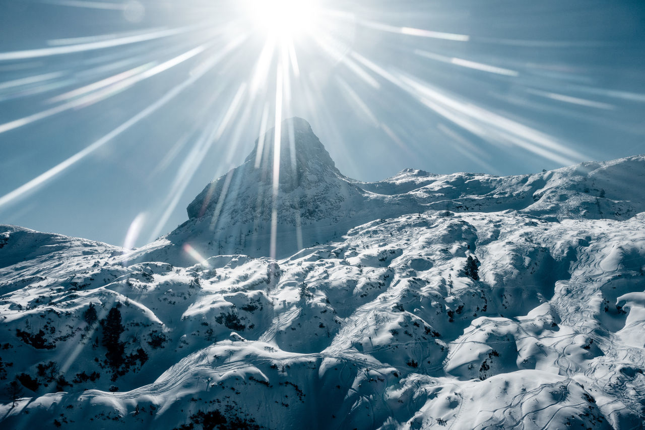 Superbright... Lens Flare Glitch Snow Mountain Winter Scenics Tranquility Tranquil Scene Sky Nature Cold Temperature Landscape Beauty In Nature No People Extreme Terrain White Color Frozen Clear Sky Flying High