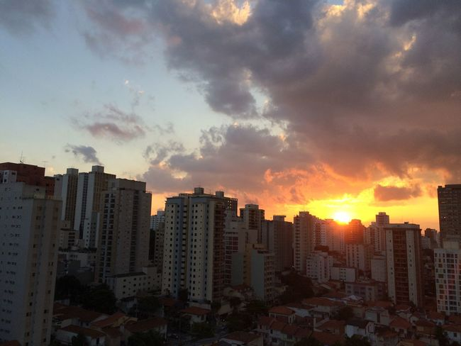 sao paulo BRAZIL 2016 Architecture Building Building Exterior Built Structure City City Life Cityscape Cityscapes Cloud Cloud - Sky Cloudy Dramatic Sky EyeEm Team Nature No People Orange Color Outdoors Residential Building Residential District Residential Structure Sky Sun Sunset Urban Skyline Weather