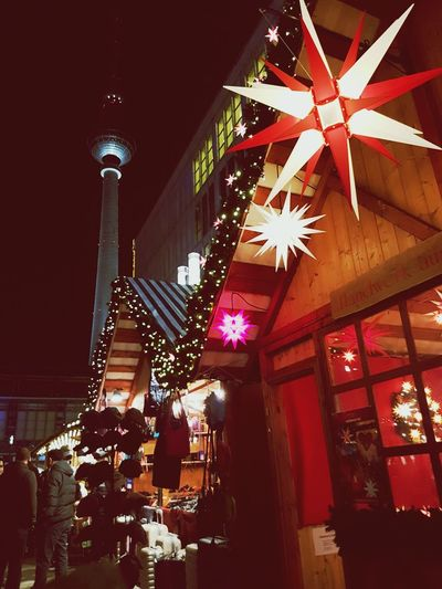 Berlin Christmas Illuminated Christmas Decoration Night Christmas Lights Celebration Christmas Tree Lighting Equipment No People Holiday - Event Tradition Christmas Ornament Shiny Tree Indoors  Firework Display Midnight Berlin Christmas market Low Angle View