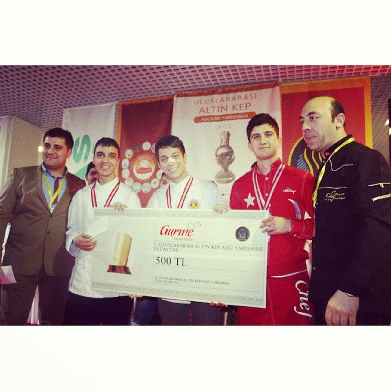Antalya Altin Golden Cap kep 500tl awards Happy chefs my team: )