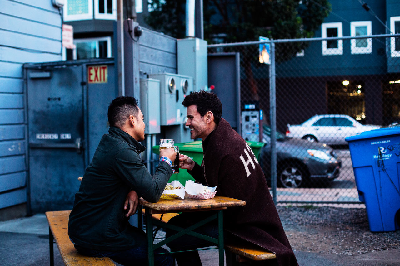 Beautiful stock photos of bier, two people, adults only, city, togetherness