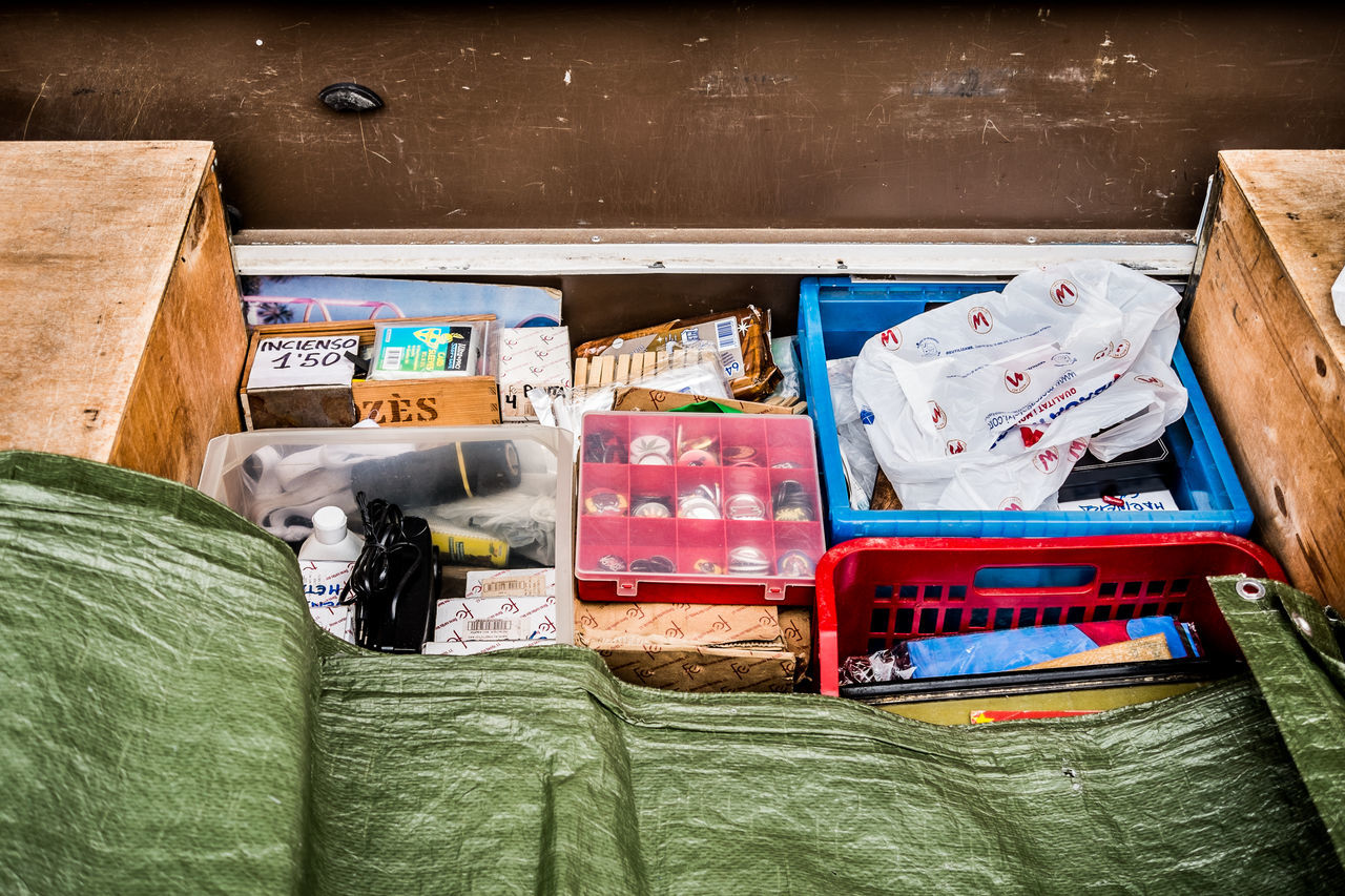 Box - Container Multi Colored No People Outdoors Market Things I See Fragments Of Life Color