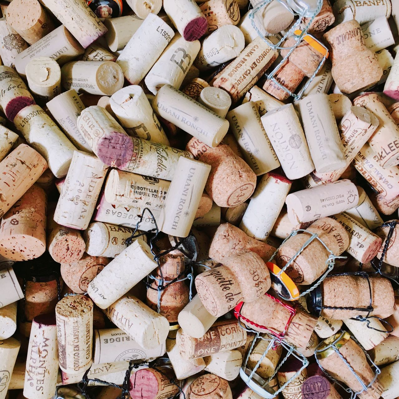 Large Group Of Objects Abundance Full Frame Backgrounds High Angle View Childhood Chopped Heap Wine Cork Freshness Collection Day Many No People IPhoneography Iphoneonly Daily Life Daily Smart Phone