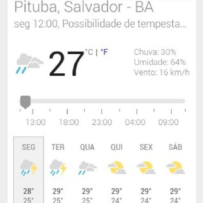 PRE-PA-RA que vem água! Chuva Salvador Bahia Brasil CompartilhePrevisão