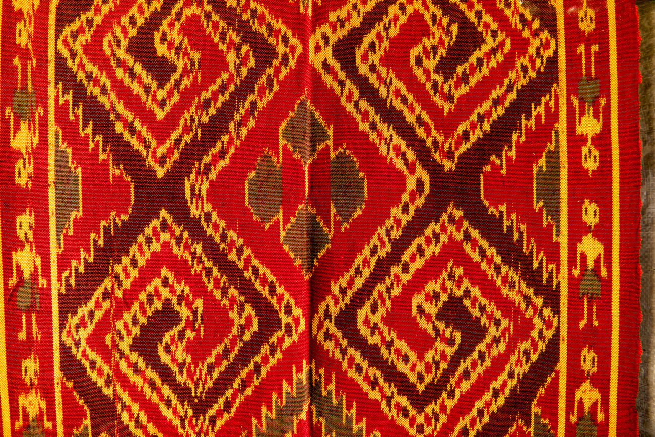 Toraja traditional weaving clothes. Weave clothes become an important heritage from Indonesia. Backgrounds Close-up Clothes Day Full Frame Heritage Indoors  No People Patern Pattern Red Textile Textured  Toraja Toraja Indonesia Toraja Utara Torajaland Tourism Weaving