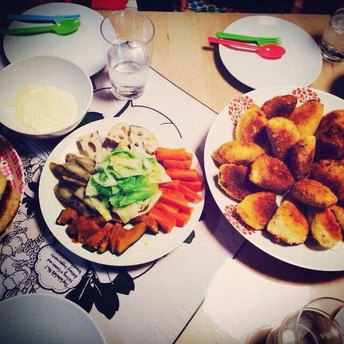 先日はみんなでカレーパンパーティ(*^^*)手作りカレーパンは生地がサクふわで甘くて美味しい(=´∀`)人(´∀`=)