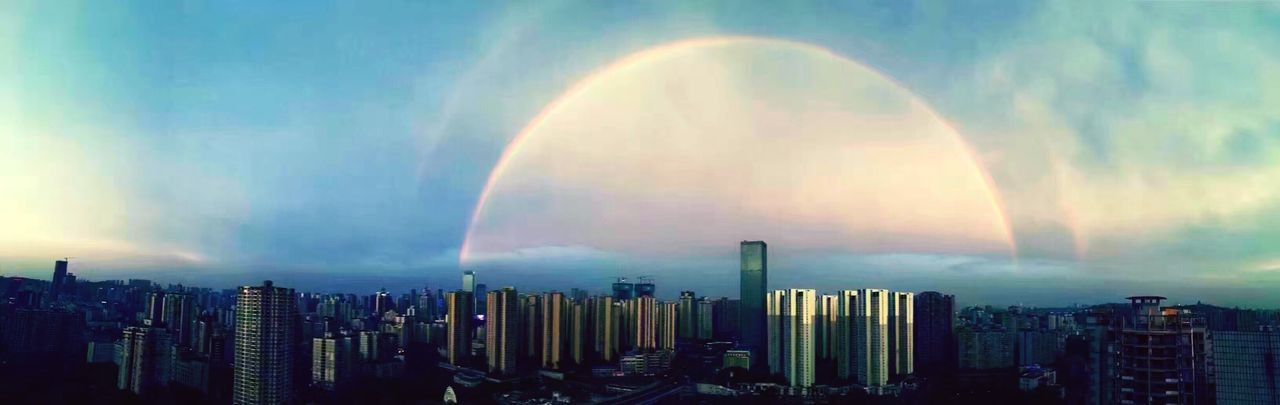 After The Rain Rainbow Somewhere Over The Rainbow Colors Colorful Rain EyeEm Nature Lover EyeEm Best Shots - Landscape City Cityscapes Cityscape