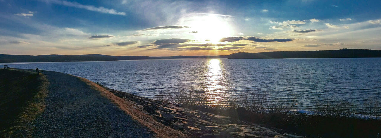 Lake Wallenpaupack Paupack Hawley Pennsylvania Pennsylvania Beauty Pennsylvania Landscape Enjoying Life Landscape_Collection Spring Check This Out Hello World Panorama Panoramic